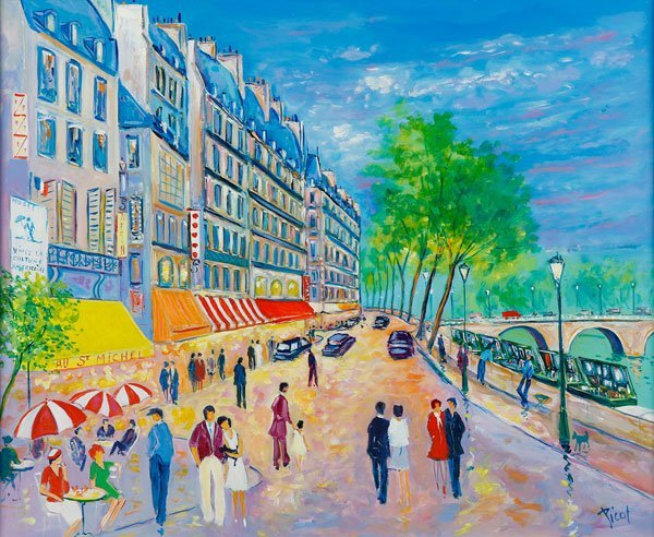 JEAN-CLAUDE PICOT OIL PAINTING