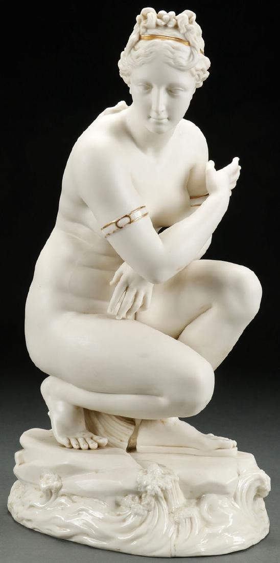 LARGE BELLEEK  FIGURE OF VENUS, 1863-1891