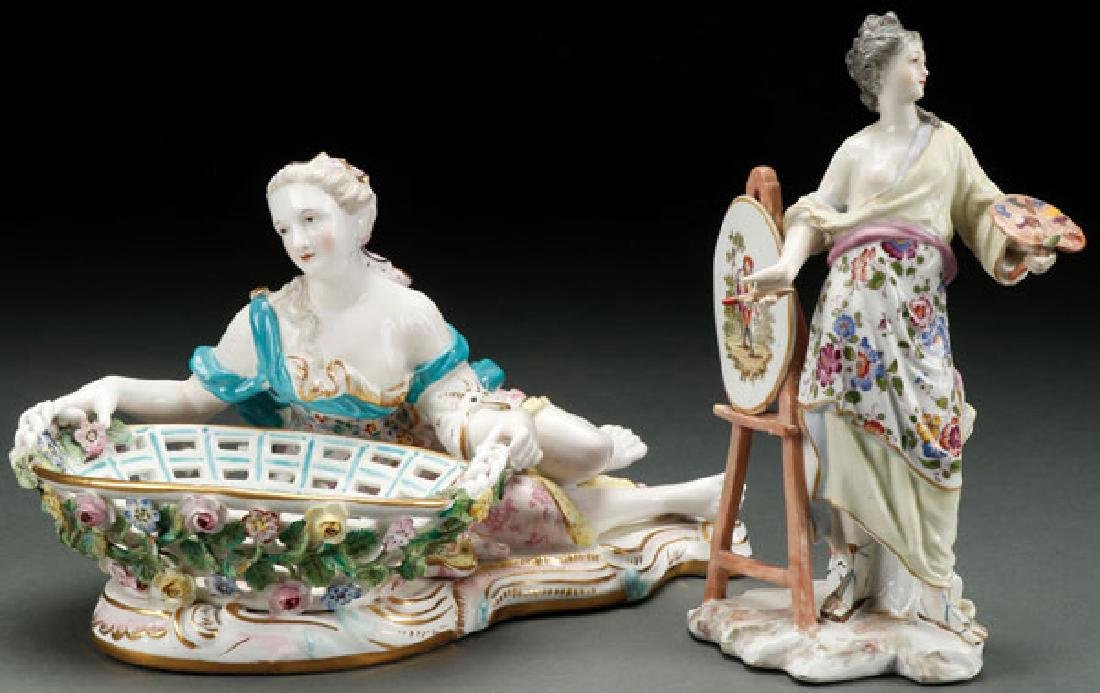19TH CENTURY DRESDEN AND FRENCH PORCELAIN