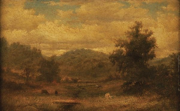 2: GEORGE INNESS  (American 1824-1894) Hill and Vale