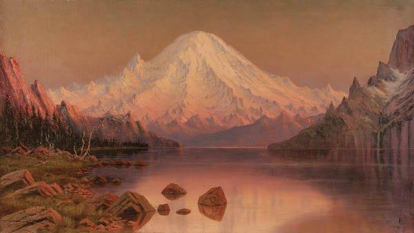 4: JAMES EVERT STUART (American 1852-1941) Sunset Mt