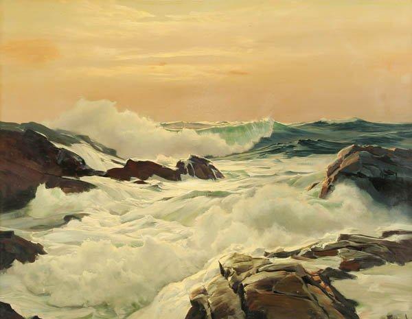 5: FREDERICK JUDD WAUGH (American 1861-1940) Bright