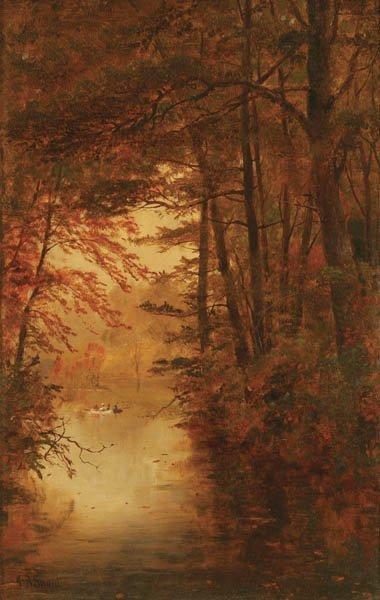 9: JAMES BRADE SWORD (American 1839-1915) Fall Lakes