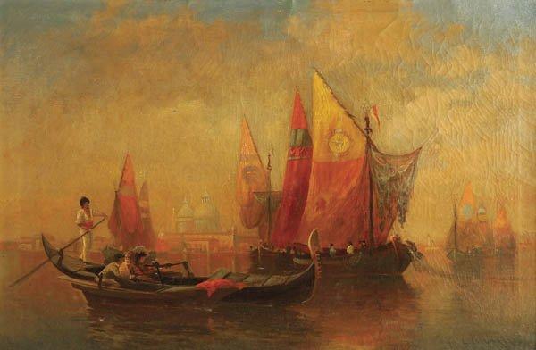 13: LUIGI LAGONI (Italian 19th century) Gondolier and