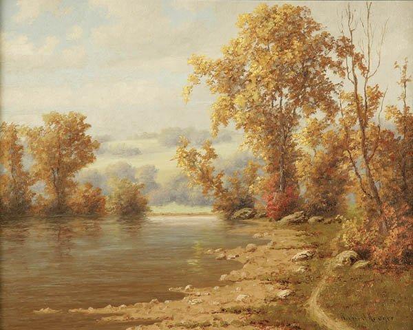 15: RICHARD KRUGER (American b.1880-) Fall Landscape