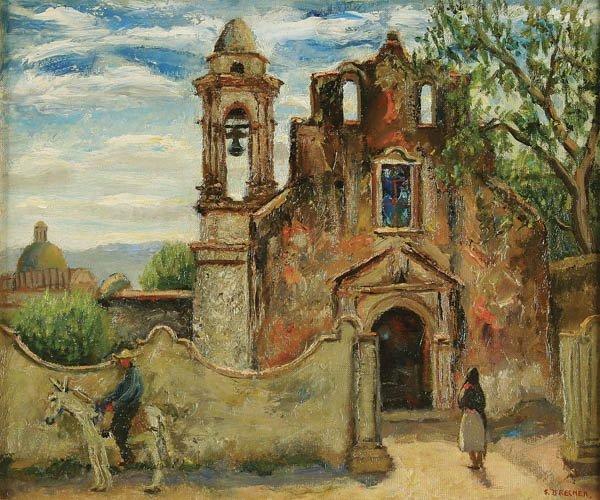 18: SAMUEL BRECHER (American 1897-1982) Church of San