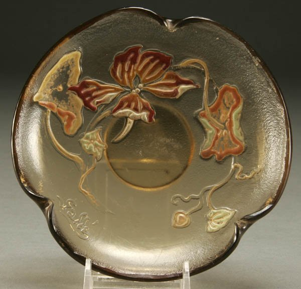 688: A GOOD EARLY GALLE CAMEO DISH late 19th century;