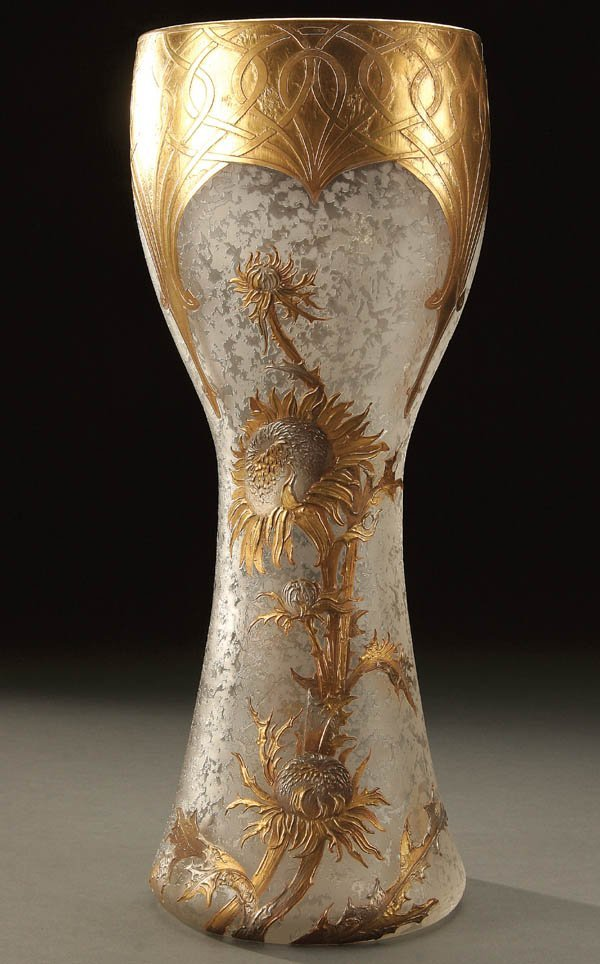 691: A VERY FINE MONT JOYE CAMEO GLASS VASE large cors