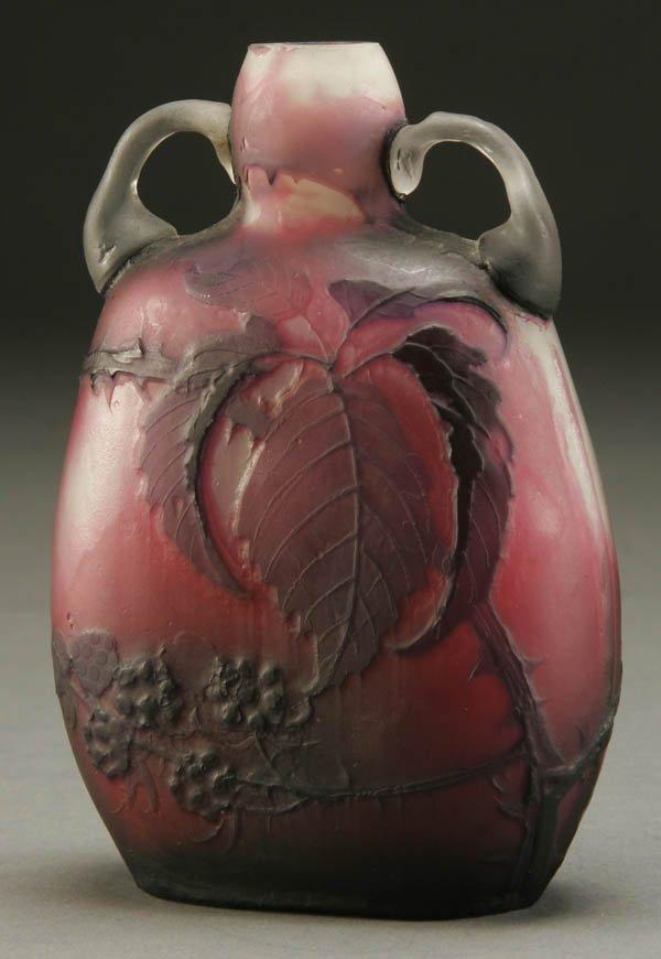 698: A FINE MULLER FRENCH CAMEO GLASS VASE circa 1910;
