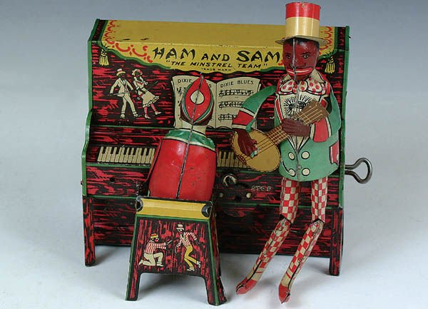 515: A HAM AND SAM TIN WINDUP toy. Very good condition