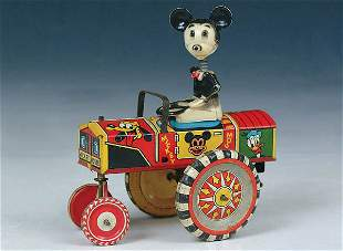 """A MICKEY MOUSE """"GO MOBILE"""" by Marx. Marked Walt D"""