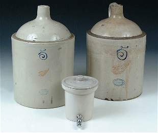 A PAIR OF REDWING UNION STONEWARE 5 GAL JUGS. A c