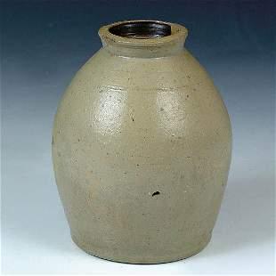 A FINE SALT GLAZED STONEWARE JAR 19th century. Of