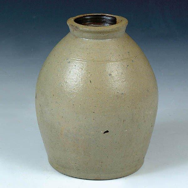 1181: A FINE SALT GLAZED STONEWARE JAR 19th century. Of