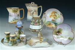 1410 A VERY FINE 11 PIECE COLLECTION OF HAND PAINTED N