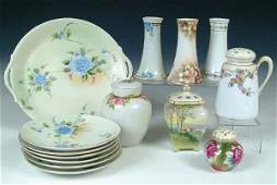 1412 A 14 PIECE COLLECTION OF HAND PAINTED NIPPON incl