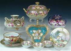 1413 A 10 PIECE COLLECTION OF HAND PAINTED NIPPON with