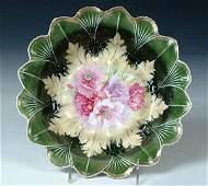 1618: A FINE R.S. PRUSSIA PORCELAIN BOWL with floral de