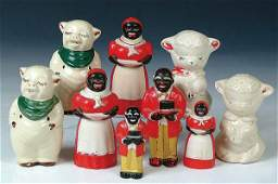 1803: A GROUP OF FOUR SALT AND PEPPER SHAKERS comprised