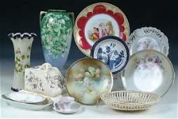 1841 A 20 PIECE GROUP OF CERAMICS including vases cak