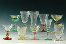 1866: A LARGE 31-PIECE ASSORTMENT OF CRYSTAL AND COLORE