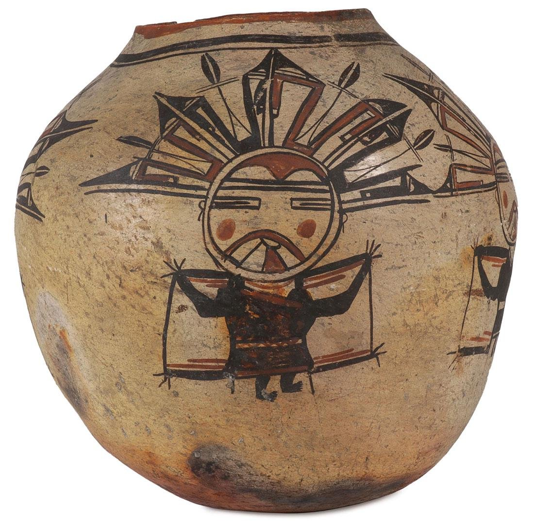 A RARE AND IMPORTANT HOPI POLYCHROME JAR