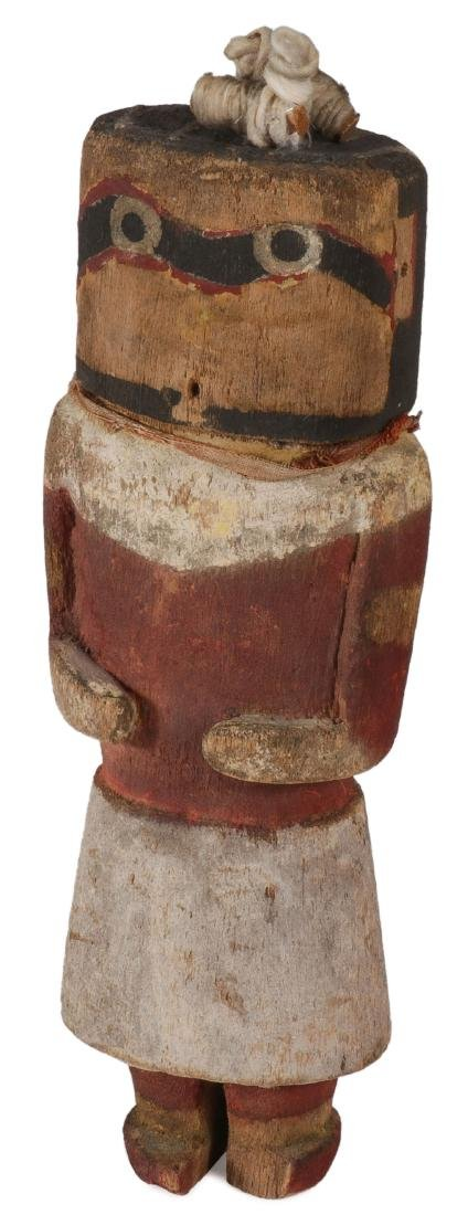 A HOPI POLYCHROME WOOD HOCHANI KACHINA DOLL