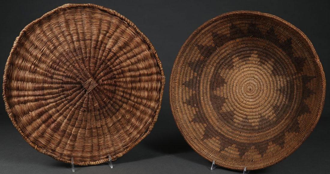 TWO SOUTHWEST WOVEN ITEMS, CIRCA 1900