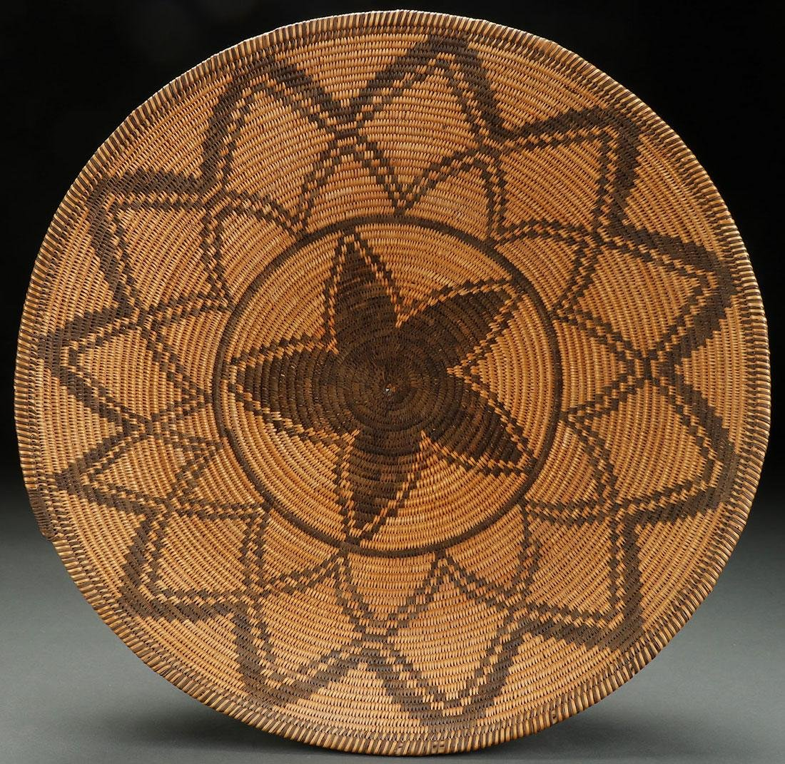 AN IMPRESSIVE APACHE COILED BASKETRY BOWL