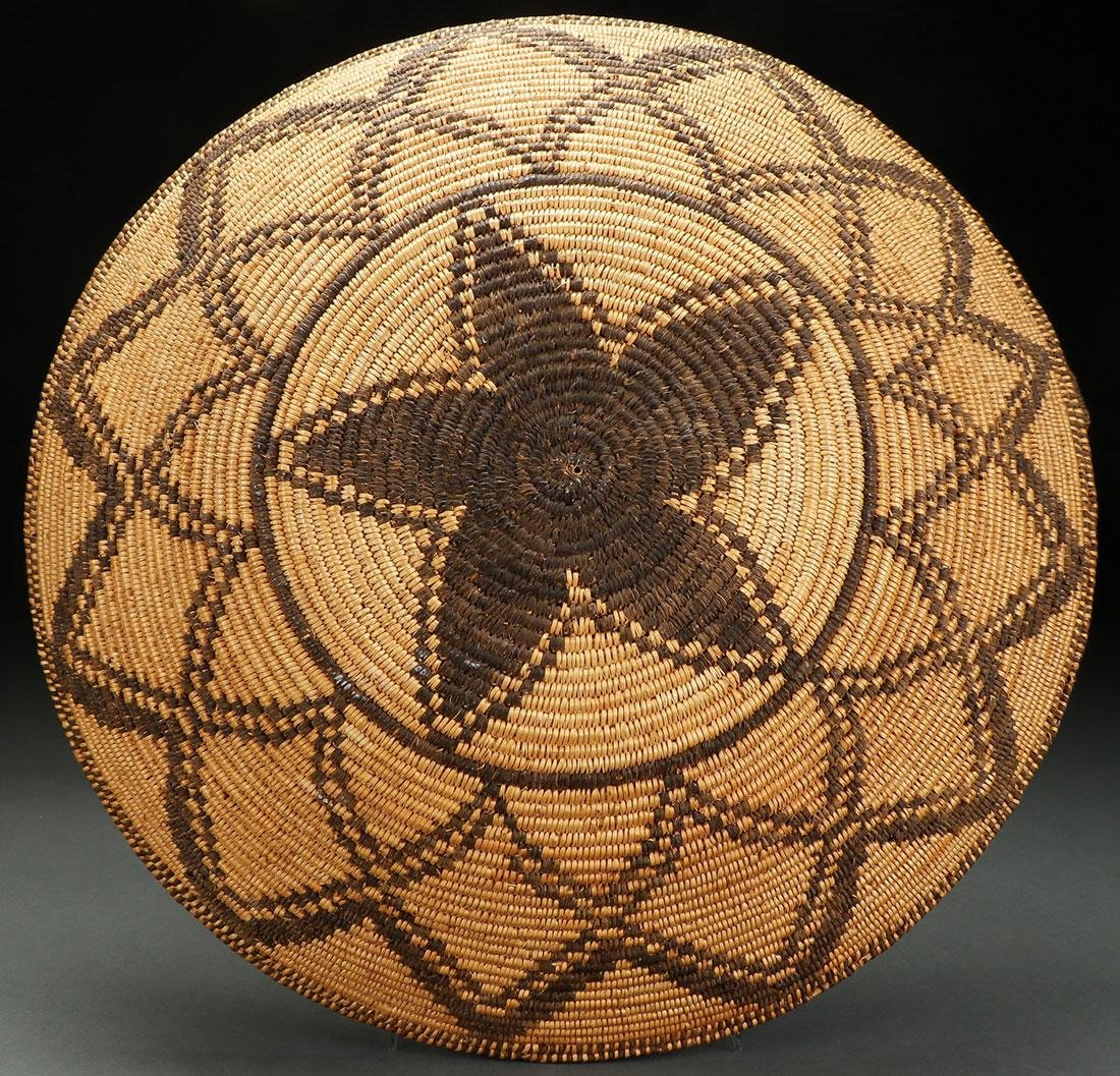 AN IMPRESSIVE APACHE COILED BASKETRY BOWL - 2