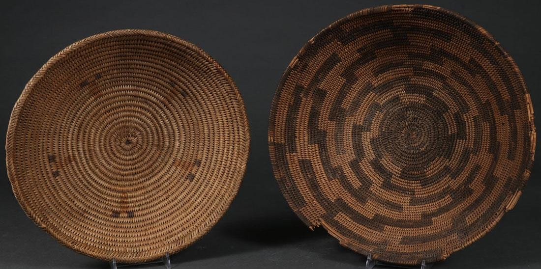 A PAIR OF SOUTHWEST WOVEN BASKETS, CIRCA 1900