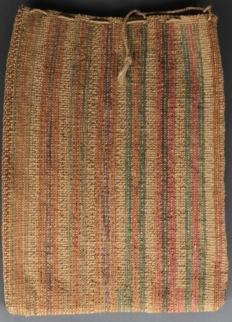 A CORN HUSK TWINE BAG, 20TH CENTURY - 2
