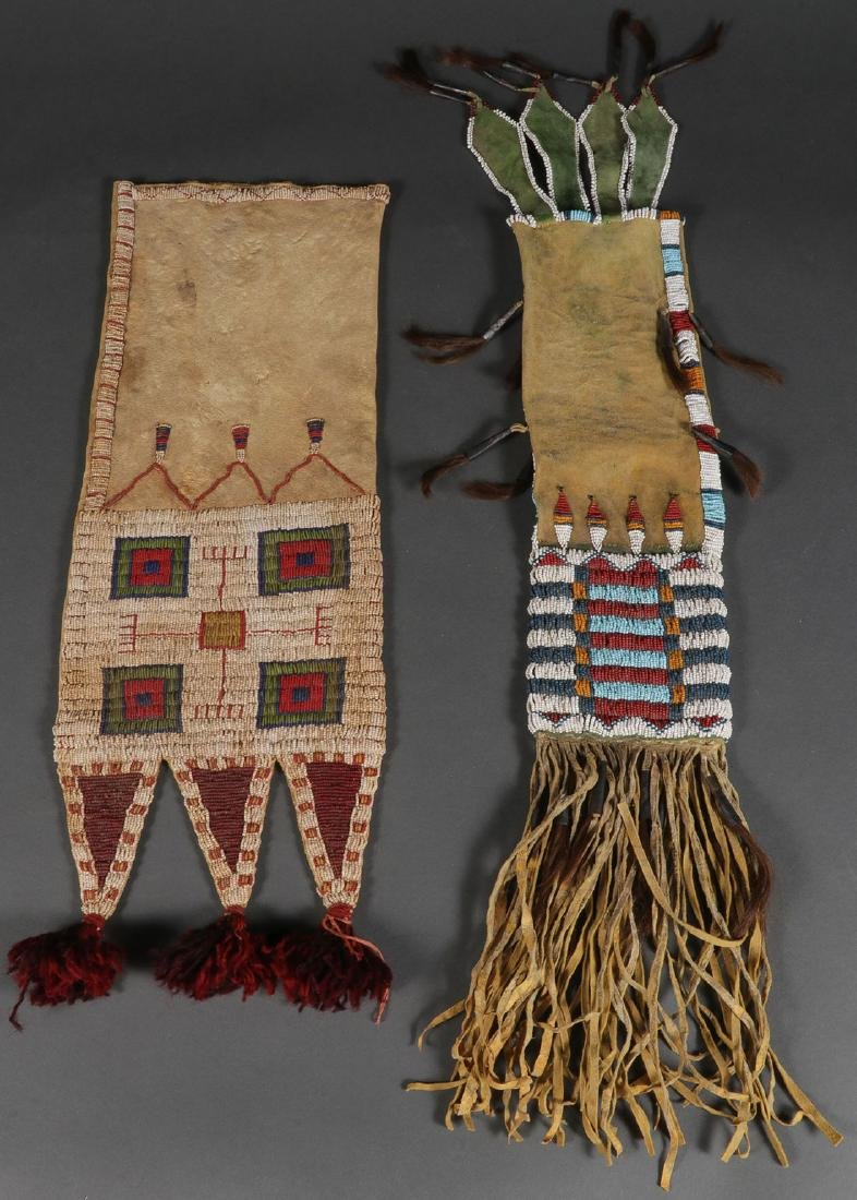 TWO BEADED PIPE BAGS, LIKELY 2ND HALF OF 20TH C.