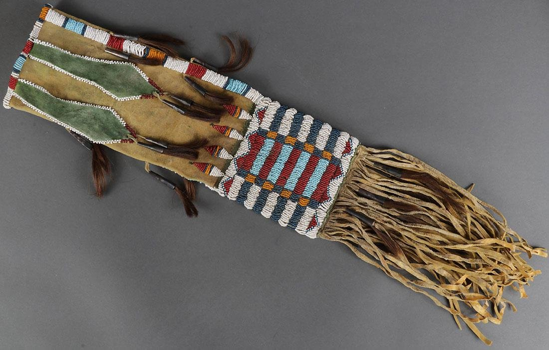 TWO BEADED PIPE BAGS, LIKELY 2ND HALF OF 20TH C. - 2