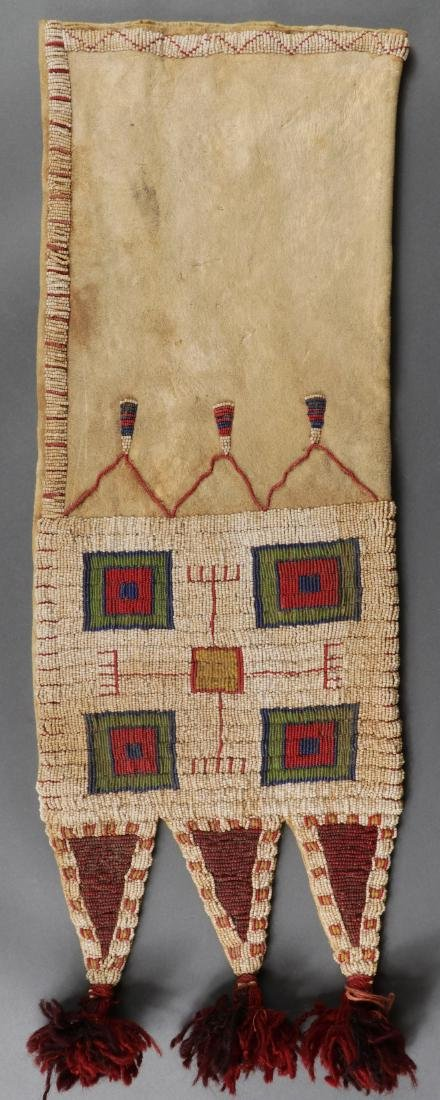 TWO BEADED PIPE BAGS, LIKELY 2ND HALF OF 20TH C. - 3