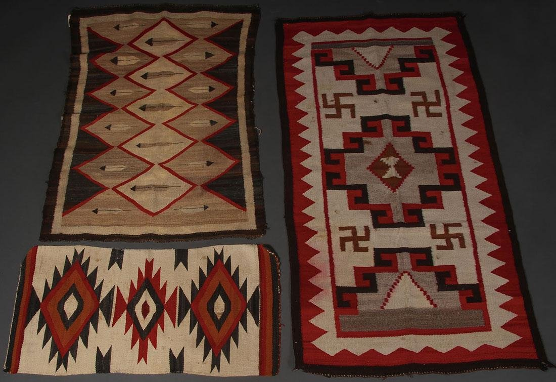 SIX NAVAJO RUGS, CIRCA 1920-1940