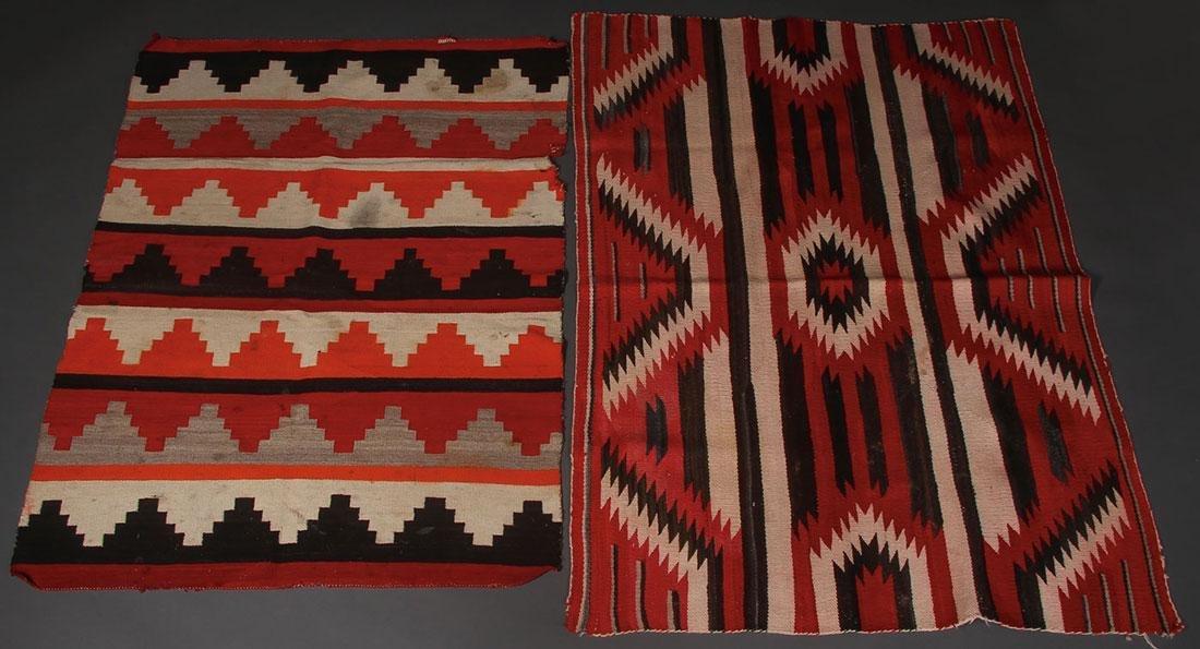 SIX NAVAJO RUGS, CIRCA 1920-1940 - 3