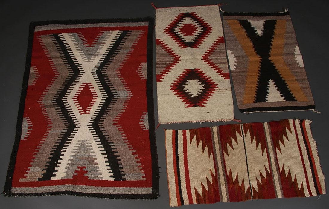 A GROUP OF EIGHT NAVAJO RUGS, 1960'S AND LATER