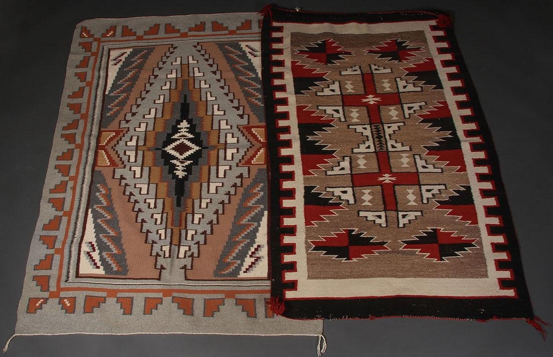 A GROUP OF EIGHT NAVAJO RUGS, 1960'S AND LATER - 2