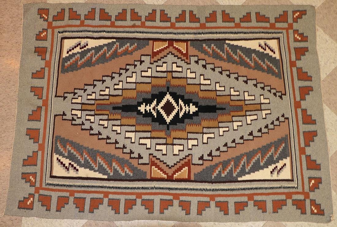 A GROUP OF EIGHT NAVAJO RUGS, 1960'S AND LATER - 5
