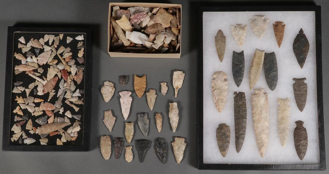 A GROUP OF OVER 100 STONE TOOLS