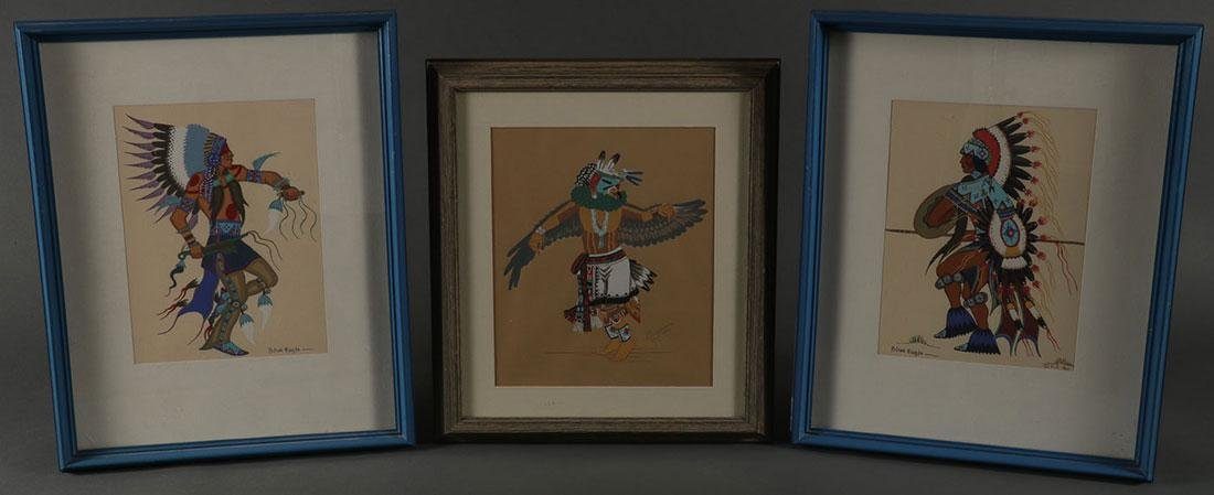 TEN FRAMED INDIAN ARTWORKS, 20TH CENTURY - 2