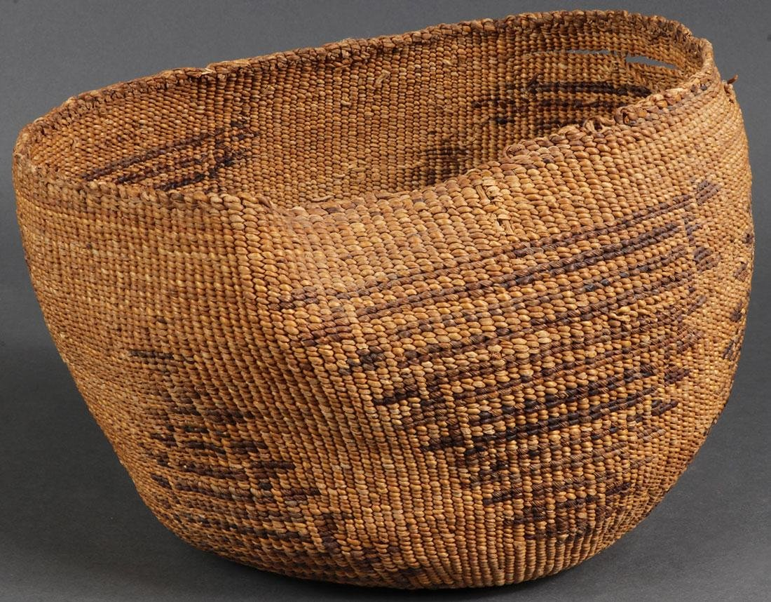 EIGHT WOVEN BASKETS, CIRCA 1910 AND LATER - 2