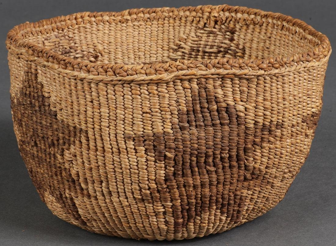 EIGHT WOVEN BASKETS, CIRCA 1910 AND LATER - 3