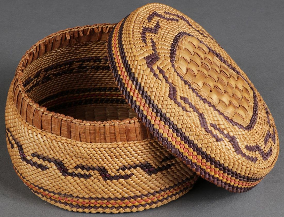 EIGHT WOVEN BASKETS, CIRCA 1910 AND LATER - 4