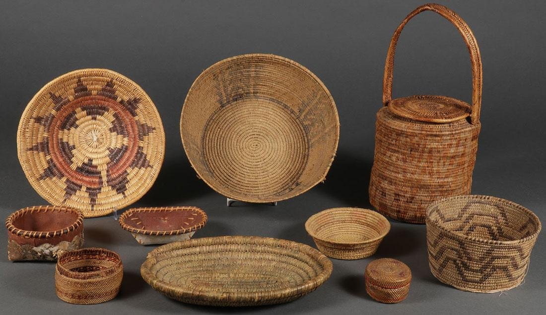 TEN BASKETS, CIRCA 1920 AND LATER