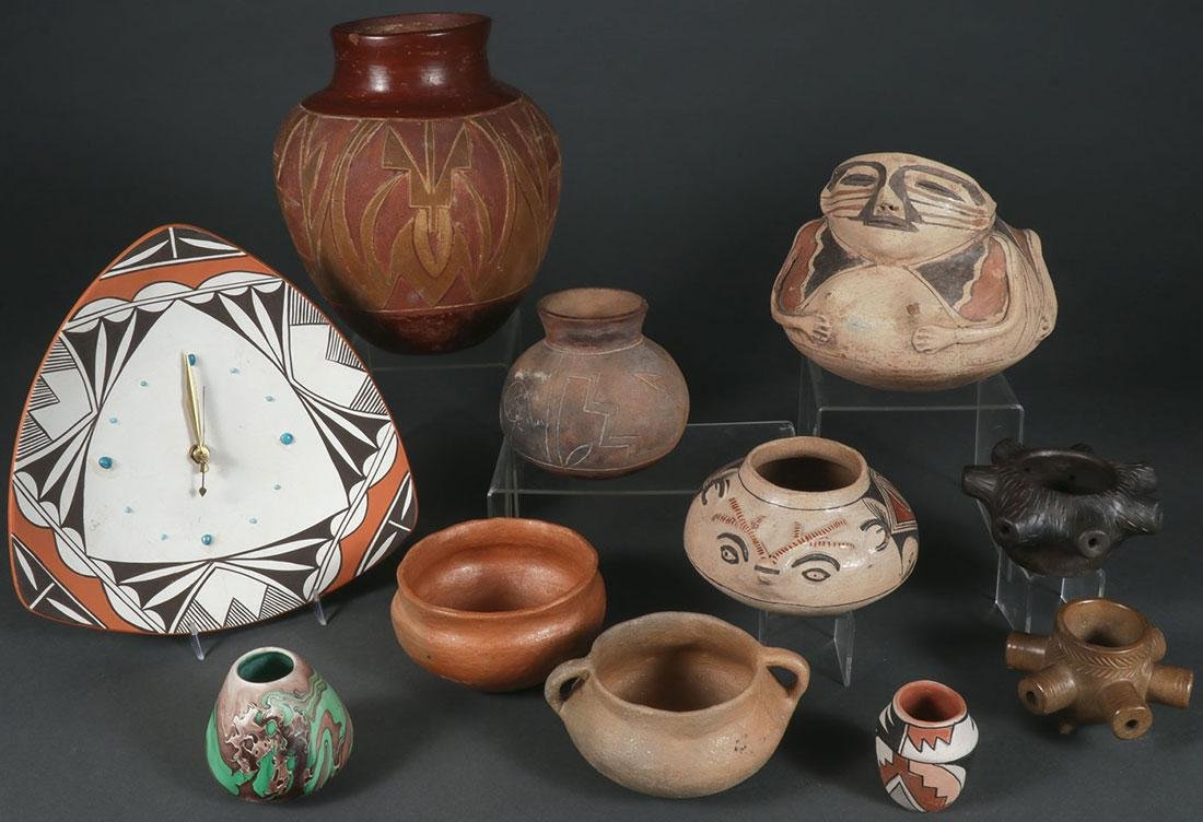NATIVE AMERICAN SOUTHWEST POTTERY PIECES