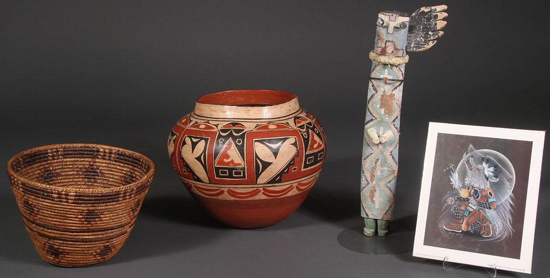5 NATIVE AMERICAN OR NATIVE AMERICAN STYLE ITEMS