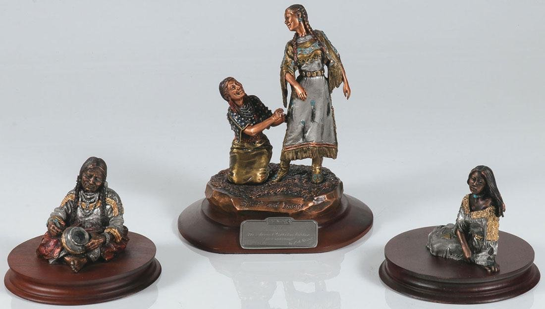 THREE C A PARDELL FOR LEGENDS INDIAN FIGURES