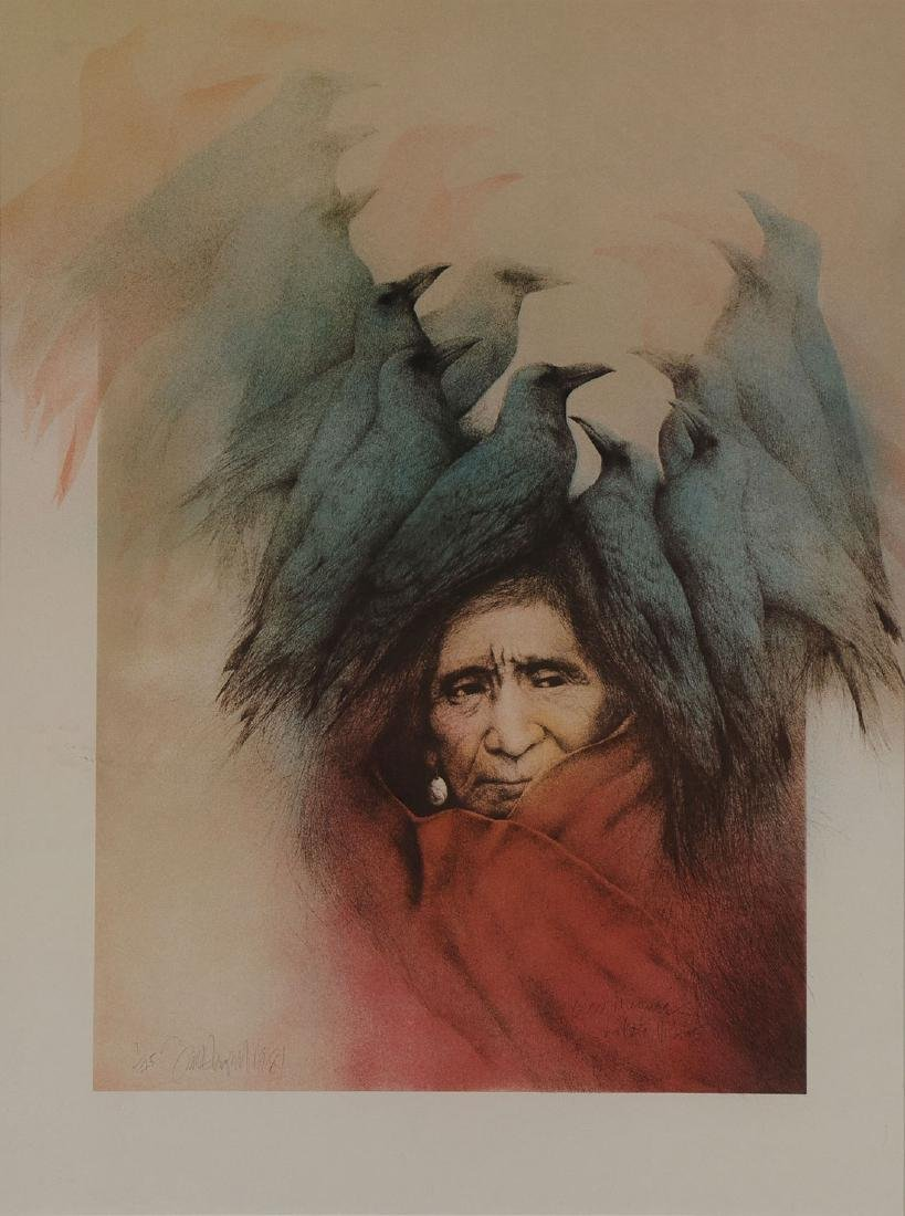 THREE NATIVE AMERICAN THEMED PRINTS - 2